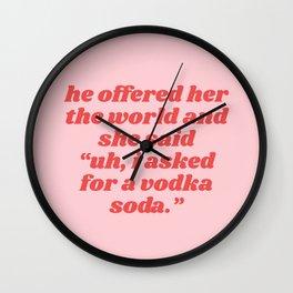 vodka soda Wall Clock