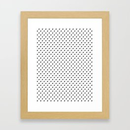 BLACK BOMB DIGGITYS ALL OVER SMALL Framed Art Print