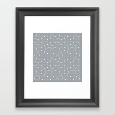 Pin Points Grey Framed Art Print