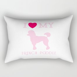 I Love my French Poodle Design Rectangular Pillow