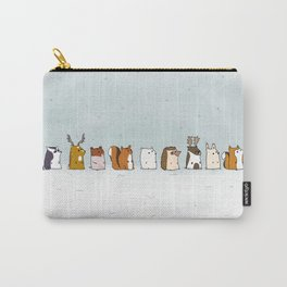 Winter forest animals Carry-All Pouch