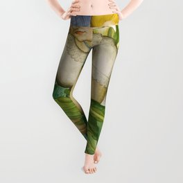 California Calla Lilies by Maxine Albro Leggings