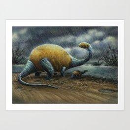 Potatosaurus Art Print