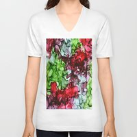 tmnt V-neck T-shirts featuring TMNT by Claire Day