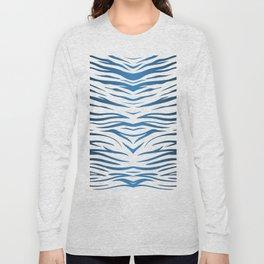 Blue Zebra Long Sleeve T-shirt