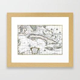 The island of Cuba - 1762 Framed Art Print
