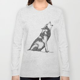 The wolf of Many Long Sleeve T-shirt