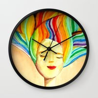 grace Wall Clocks featuring grace by sylvie demers