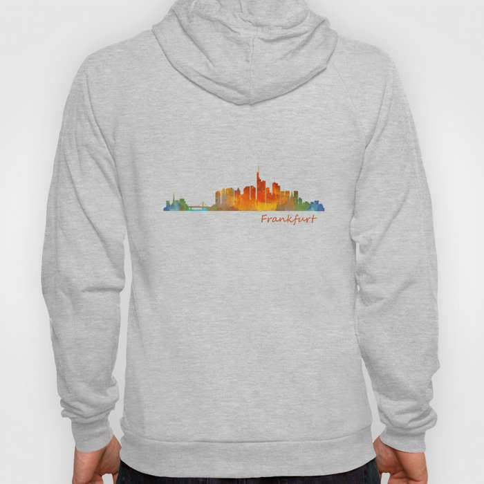 Frankfurt am Main, City Skyline, Citiscae art watercolor V1 Hoody