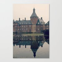 castle Canvas Prints featuring Castle by DuniStudioDesign