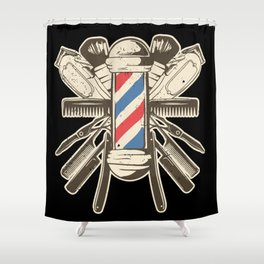 Barber Accessories | Beard Hairdresser Shower Curtain