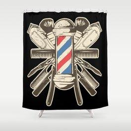 Barber Accessories | Beard Hairdresser Shower Curtain