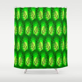 geen tropical abstract Shower Curtain