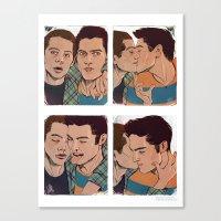 sterek Canvas Prints featuring Sterek by DakotaLIAR