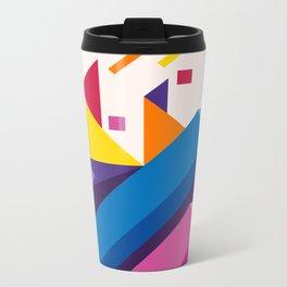 Abstract modern geometric background. Composition 17 Metal Travel Mug