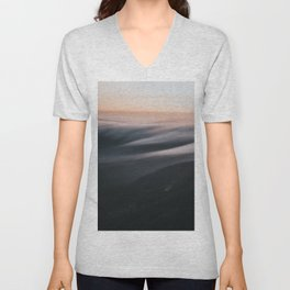 Sunset mood - Landscape and Nature Photography Unisex V-Neck
