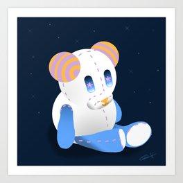 Goodnight Teddy-bear Art Print