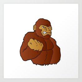 cartoon gorilla Art Print
