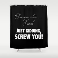fairy tale Shower Curtains featuring Fairy Tale by Truth be Told