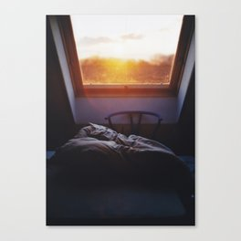 Sunset in bed Canvas Print