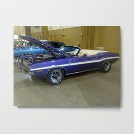 1970 Plum Crazy Purple 426 Hemi Challenger RT Convertible color photograph / photography  Metal Print