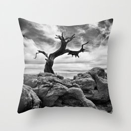 Twisted Tree Throw Pillow