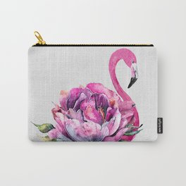 Flower Flamingo Carry-All Pouch