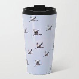Cranes in Flight II #decor #society6 #buyart Travel Mug