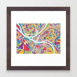 Pittsburgh Pennsylvania Street Map Framed Art Print