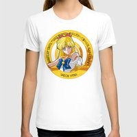 sailor venus T-shirts featuring Sailor Venus - Crystal Intro by Yue Graphic Design