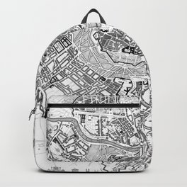 Vintage Map of Vienna Austria (1833) BW Backpack