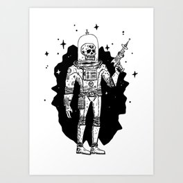 Intergalactic Bone Man Art Print