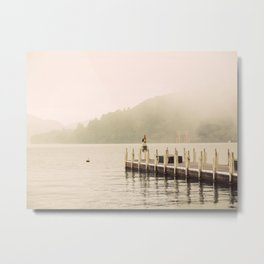 Misty Shrine Metal Print