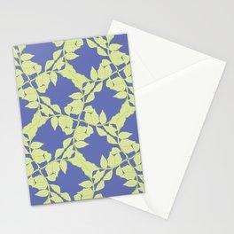Plant Leaflet Lattice Pattern Stationery Cards