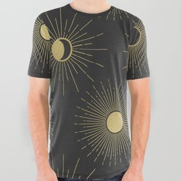 Moon and Sun Theme All Over Graphic Tee