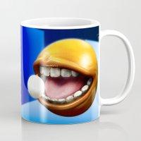 pacman Mugs featuring PacMan by Joshua A. Biron