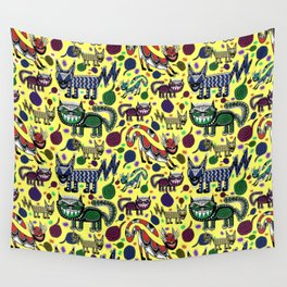 SNEAKY CATS Wall Tapestry