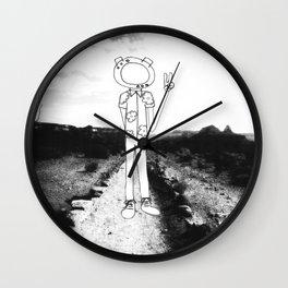 Vacation on Mars Wall Clock
