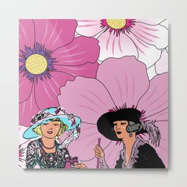 Good Afternoon Ladies Metal Print