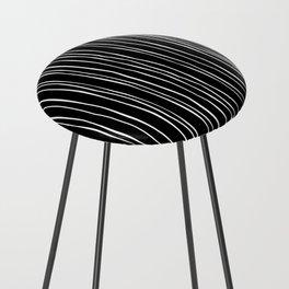 Wide Black Stripe Counter Stool