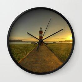 Smeaton's Tower Sunset  Wall Clock