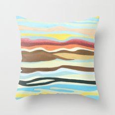 colorful perspective Throw Pillow