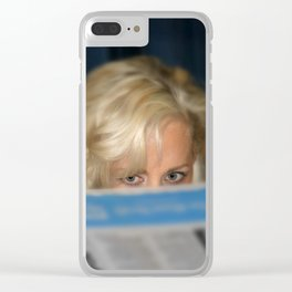 Girl With Umbrella Clear iPhone Case