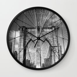 Brooklyn Bridge New York City Wall Clock