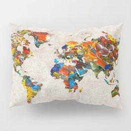 World Map 43 Pillow Sham