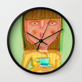 Drink Coffee and Relax Wall Clock