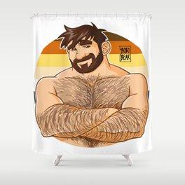 Adam likes bobo beer Shower Curtain