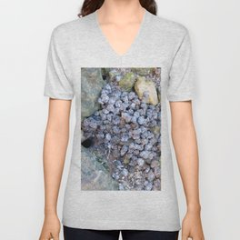 Watercolor Poop, Fiddler Crab 01, Gulf Island Beach, Florida Unisex V-Neck