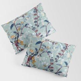 Flower garden in blue sky hand drawn illustration pattern Pillow Sham