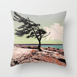 Killbear Provincial Park Throw Pillow